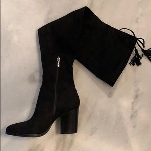 Marc Fisher LTD over the knee black suede boots